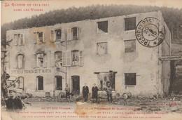 C.P.A. - SAINT DIE - CAFÉ DE LA PROMENADE ST MARTIN AUX TIGES INCENDIE PAR LES ALLEMANDS -  11130 - Saint Die