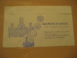 BARCELONA Telegrama Caja Postal Ahorros Telegram Numismatica Monedas Moneda SPAIN Coin Coins Numismatics Numismatique - Monete