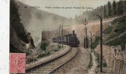CANTAL TRAIN SORTANT DU GRAND TUNNEL DU LIORAN (CARTE COLORISEE) - Frankrijk