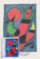 Carte Maximum  1er  Jour   REUNION   Oeuvre   De   MIRO   LE  TAMPON   1974 - Reunion Island (1852-1975)