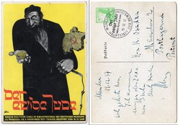 """Postkarte Zur Politischen Schau 1937 """"Der Ewige Jude"""" - Allemagne"""