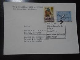 WIEN/VIENNA - ISTANBUL - BEIRUT - AUSTRIAN AIRLINES - AUA - 10.9.1971 - First Flight Covers