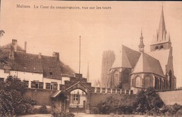 Mechelen Malines La Cour Du Conservatoire, Vue Sur Les Tours - Mechelen