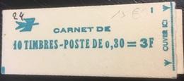 France - Carnet Marianne De Cheffer- N° 1536-C 1 - Neuf Ouvert * - Carnets