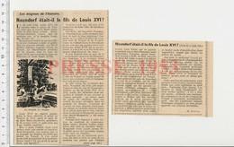Presse 1953 Naundorf Fils Du Roi Louis XVI ? Le Dauphin Au Temple Louis XVII  223CHV5 - Old Paper