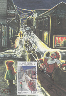 Carte  Maximum  1er   Jour   SAINT  PIERRE  Et   MIQUELON     NOËL   1993 - Cartes-maximum