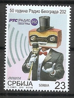 SERBIA  2019,50 YEARS OF RADIO BELGRADE 202,,RADIO,MUSIC,MICROPHONE,MNH , - Serbie