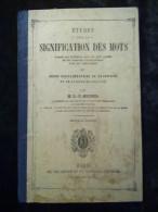 Michel: études Sur La Signification Des Mots/ Delagrave Et Cie, 1869 - Livres, BD, Revues
