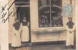 """COMMERCE  -  Carte Photo Animée Devanture """" Aux Paturages De Normandie """" Cremerie , Fromage..( Non Localisée ) - Magasins"""