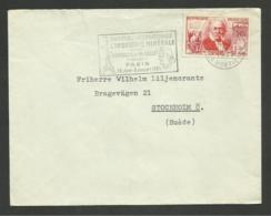 N° 1017 - 30F Chardonnet / PARIS 10.06.1955 >>> SUEDE - Poststempel (Briefe)