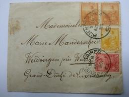 Lettre 1904 , Buenos-Aires - Weidingen Près Wiltz ,Caché Wiltz - Vari