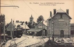 Isere, Saint Nizier, Gare Et L Eglise, Ligne De Grenoble A Villard De Lans       (bon Etat) - France