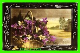 FLOWERS, FLEURS - BEAU PANIER DE FLEURS -  ÉCRITE EN 1917 - LE NORMAND ÉDITEUR - - Fleurs