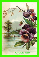 FLOWERS, FLEURS - DES PENSÉES EMBOSSÉES - PUBLICITÉ DU SIROP DU DR. CODERRE - THE WINGATE CHEMICAL CO, MONTRÉAL 0 - Fleurs