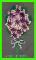 FLOWERS, FLEURS - GERBE DE FLEURS, FIL D'OR , BRILLANTS - ÉCRITE EN 1908 - - Fleurs