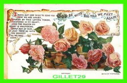FLEURS - FLOWERS - GOD BE WITH YOU TIL WE MEET AGAIN - CIRCULÉE EN 1945 - J. BEAGLES & CO - - Fleurs