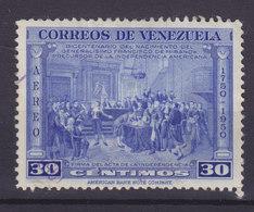 Venezuela 1950 Mi. 570    30c. Geburtstag Von Francisco De Miranda Unabhängigkeitserklärung - Venezuela