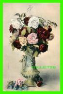 FLOWERS, FLEURS - UN BEAU VASE DE ROSES - - Fleurs