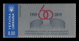Ukraine 2019 Mih. 1773 European Court Of Human Rights MNH ** - Ukraine
