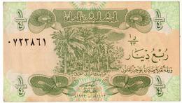 Iraq 1993 Banknote Quarter Dinar  As Per Scan - Iraq