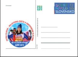 Slovakia - 2019 - Petra Vlhová, World Slalom Champion - Postcard With Hologram - Entiers Postaux