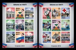 Haiti 2010 Mih. XV-XXIX Earthquake On January 12, 2010. Post Office. Ship Comfort. Rescuers MNH ** - Haïti