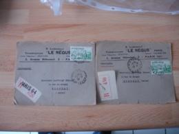 Lot De Timbre Seul 2 F Vert Vallee Rance Devant Lettre - Marcophilie (Lettres)