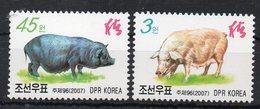 COREE DU NORD - NORTH KOREA - ANIMAUX DE LA FERME - FARM ANIMALS - PIGS - COCHONS - 2007 - - Korea, North