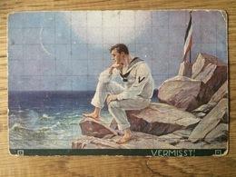 Künstlerkarte AK 'Vermisst', Gelaufen Als Feldpost Cöln 1917 WW I, Seemann Marine Matrose - Illustratoren & Fotografen