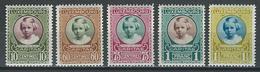 Luxemburg Mi 208-12  * MH - Unused Stamps