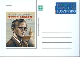 Slovakia - 2019 - Reverend Titus Zeman - Postcard With Hologram - Entiers Postaux