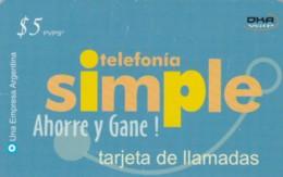 PREPAID PHONE CARD ARGENTINA  (PM2204 - Argentina