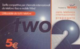PREPAID PHONE CARD ITALIA WIND (PM2288 - Schede GSM, Prepagate & Ricariche