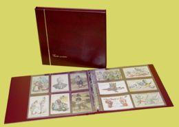 CLASSEUR ALBUM SAFE BORDEAUX + 25 FEUILLES TRANSPARENTES POUR 300 CARTES POSTALES ANCIENNES OU AUTRES - 6 CASES - Materiali