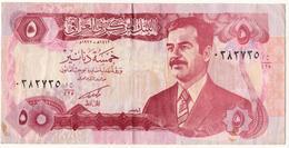 Iraq 1992 UNC Banknote 5 Dinars  As Per Scan - Iraq