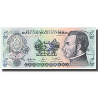 Billet, Honduras, 5 Lempiras, 2003, 2003-01-23, KM:85c, SPL+ - Honduras