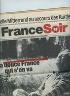 FRANCE-SOIR- Du Mardi 20 Février 2001 - 11 Pages Sur CHARLES TRENET,  La Douce France Qui S'en Va. - Journaux - Quotidiens
