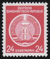 9x XII Dienst-A Zirkel 24 Pf. Wz.2X II, ** Postfrisch - DDR