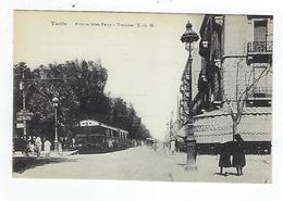 CPA  Tunisie Tunis Avenue Jules Ferry Tramway Trams Goulette Marsa - Túnez