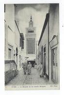 CPA  Tunisie Tunis Le Minaret De La Grande Mosquée - Túnez