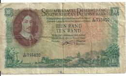 AFRIQUE DU SUD 10 RAND ND1962-65 VG+ P 107 B - Sudafrica