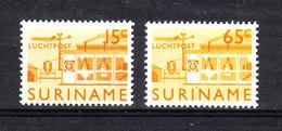 Surinam  - 1965. Aereoplano Sopra La Birreria. The Two Stamps Of Ordinary Series. Plane On Brewery. MNH - Birre