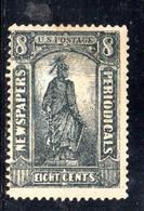 XP3876 - STATI UNITI 1875 , Francobolli Per Giornali N. 10 Senza Gomma. Punto Di Trasparenza - Stati Uniti