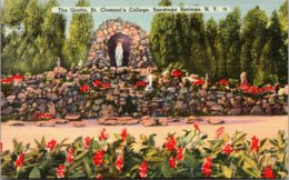 New York Saratoga Springs The Grotto St Clement's College 1945 - Saratoga Springs