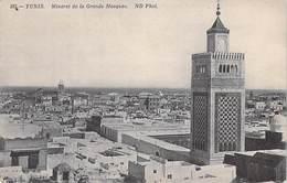 Tunisie  TUNIS Minaret De La Grande Mosquée   (- Editions ND Phot N°385)*  PRIX FIXE - Tunisie