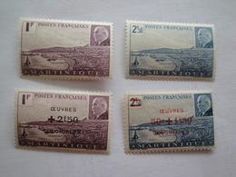 1941 / 44 Martinique Yv 189/0 + 196/7 ** MNH   Bateaux Ships  Cote 3.80 €  Michel 190/1 + 200/1 - Martinique (1886-1947)