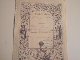 Limoges, INSTITUTION De Bony Et Villeneuve, 1 Er Accessit, 1858 - Diploma & School Reports