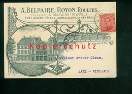 Postkarte, A. Belpaire - Royon, Firmenpostkarte, Roulers, Roeselare, Gel. 1920 Nach Vielsalm (6168) - Roeselare