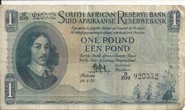 AFRIQUE DU SUD 1 RAND 1955 VF P 92 D - Afrique Du Sud