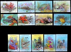Barbuda 1987 Yvertn° 893-905 *** MNH Cote 40 Euro Faune Marine Poissons Vissen Fish - Fische